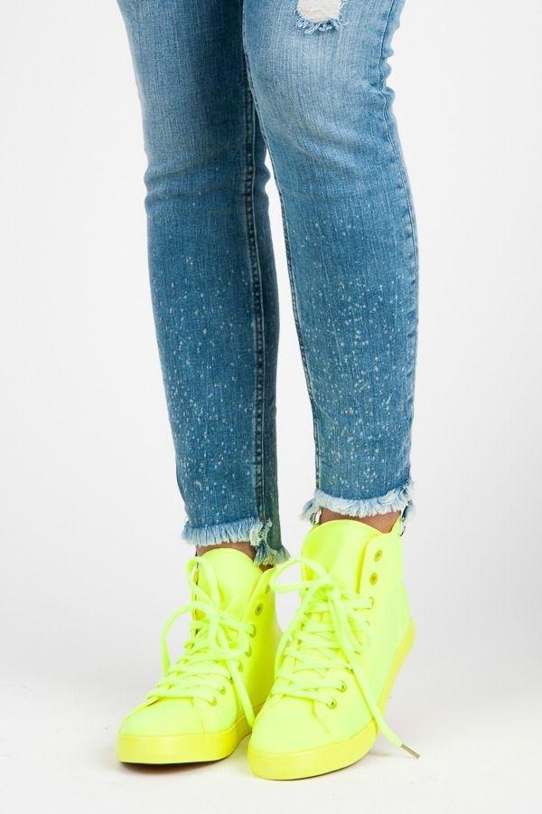 0db9180432 Neónové členkové tenisky - Dámske topánky