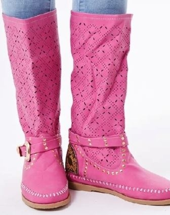 4782dbcc3bad Jarné ružové čižmy - Dámske topánky