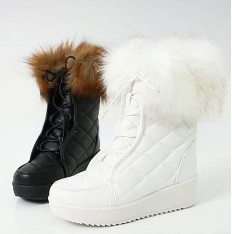 02f0c44694c44 Dámske čierne čižmy s kožušinou - Dámske topánky | Obuv | INtopanky.sk