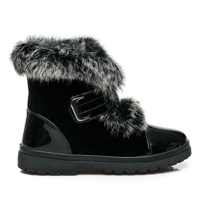 Dámske čierne čižmy - Dámske topánky  abd89bfbc02