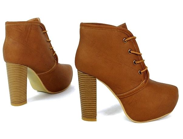 b3b6db33afb0 Dámske hnedé členkové topánky - Dámske topánky