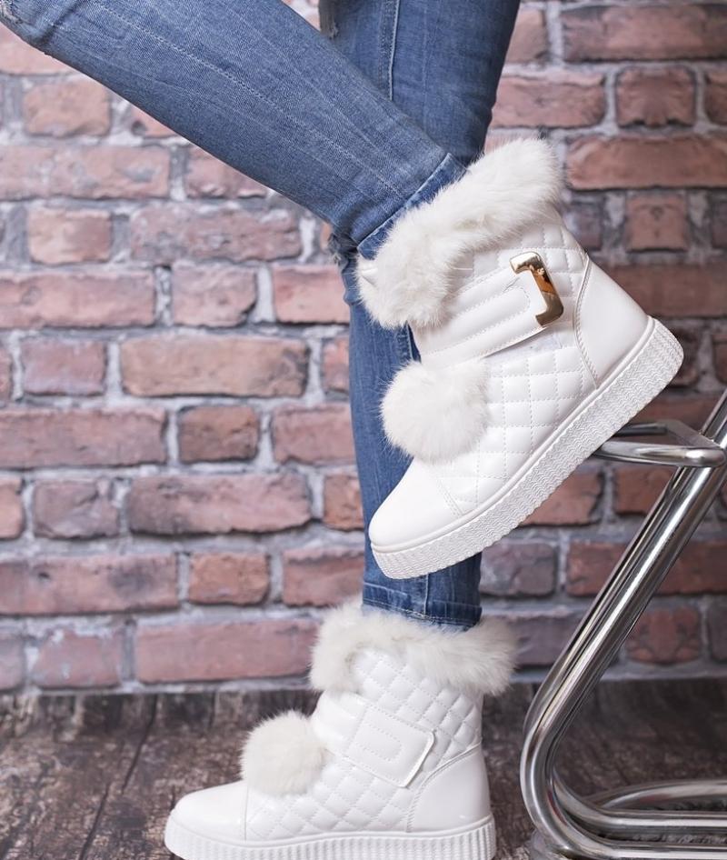 9276f0f0ed Biele dámske čižmy - Dámske topánky