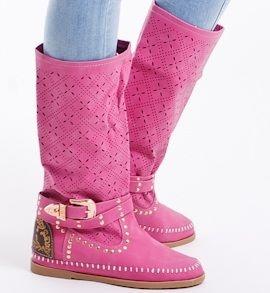 71bf684d59be Jarné ružové čižmy - Dámske topánky